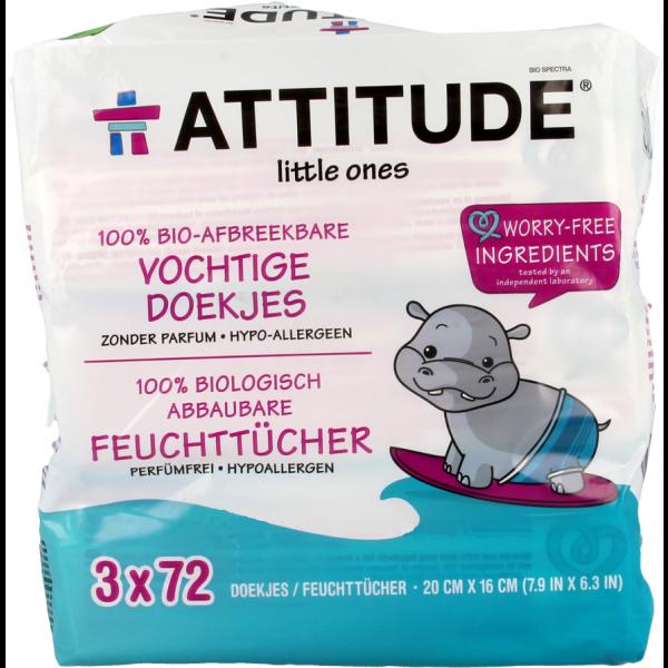 Attitude Ecologische Babydoekjes 3x 72st